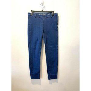 ZARA Premium Denim Collection Slim Fit Women's Flat Front Cropped Jeans Jegg 6